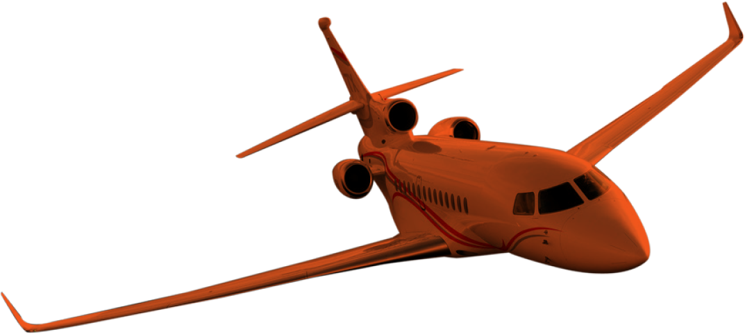 airplane orange